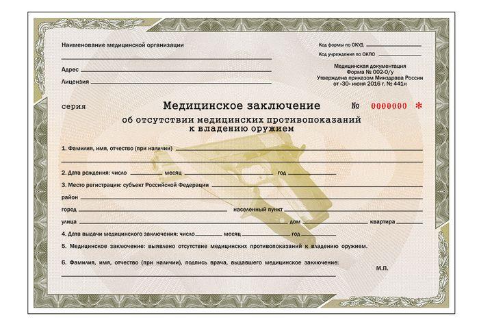 Справки для получения лицензии на оружие во Владимире