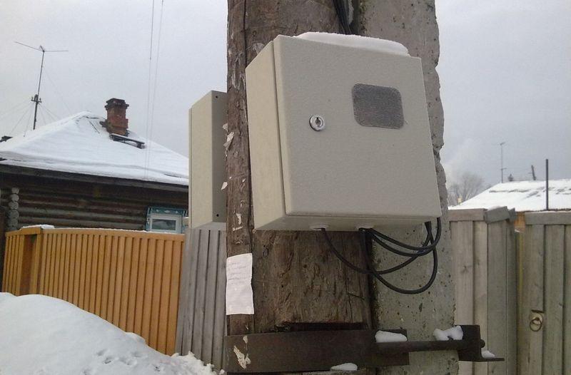 Шкаф для электросчетчика на улице