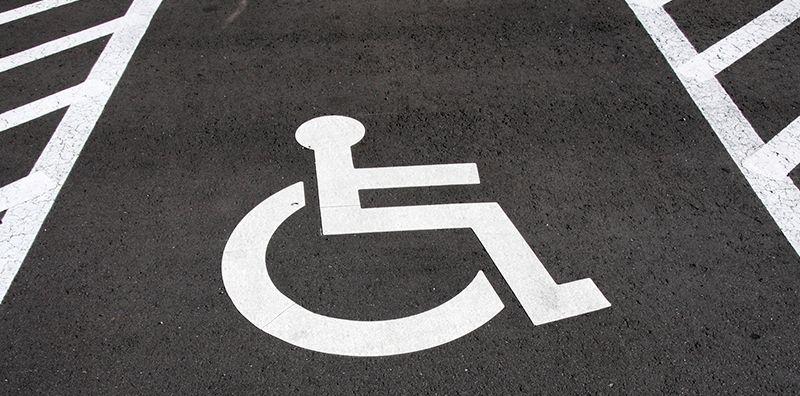 Паркоместо во дворе для инвалида