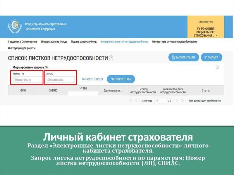 Инструкция по проверке больничного на сайте